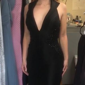 Black mermaid Mac Duggal gown size 4
